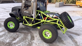 BRUDER Trucks and Bruder RC converted Jeep ice RACE