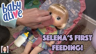 Baby Alive Selena's First Feeding!
