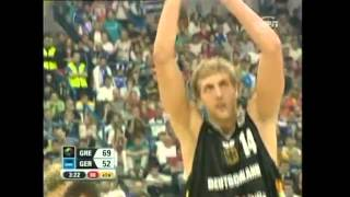 Dirk Nowitzki gets standing ovation in Eurobasket 2005 Final