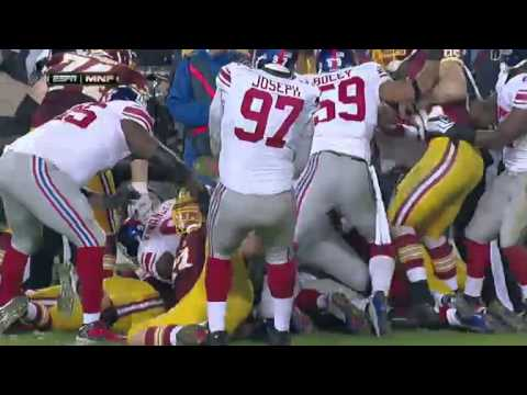 Redskins vs. New York Giants Week 13 Higlights