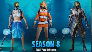 PUBG MOBILE: Season 8 Royal Pass Unboxing & Review | 🔥 Pubg New Gun Skins of season 8 | Gamexpro