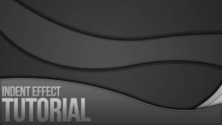 Photoshop Tutorial - Indent Effect