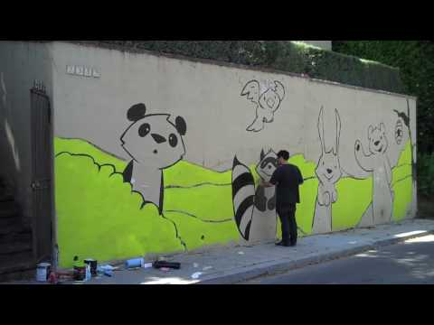 Phil Lumbang Paints a Mural in Silver Lake (Time-Lapse)