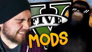 FUNNY MOMENTS COM MODS NO GTA V