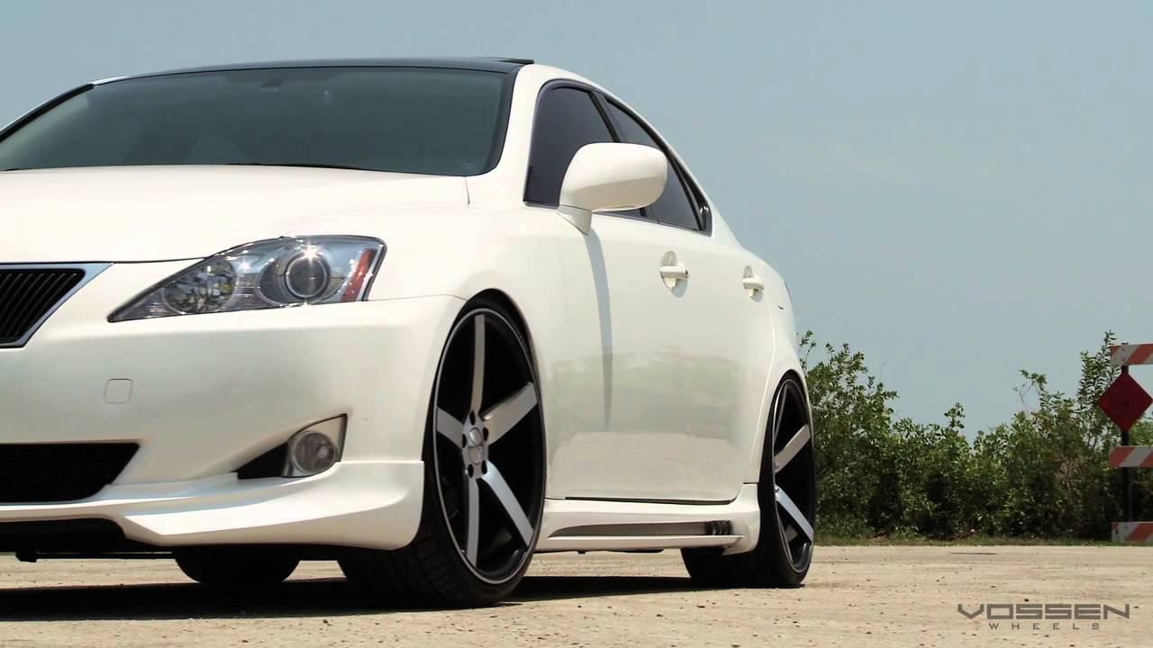 """Lexus IS250 on 20"""" Vossen VVS-CV3 Concave Wheels / Rims - YouTube"""
