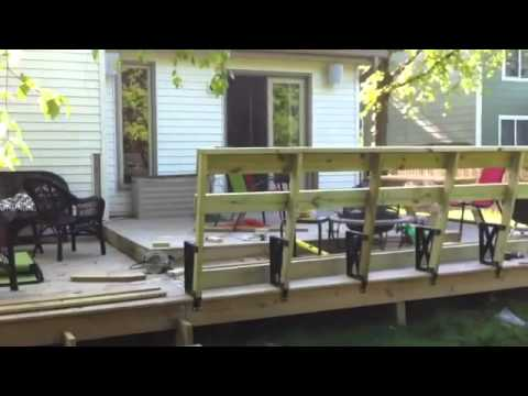 Deck Bench Build Youtube