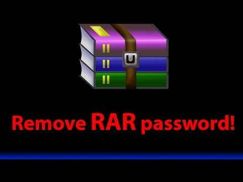 How to remove Winrar .RAR file password tutorial - 1080p