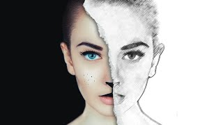Half Sketch Effect - Photoshop Tutorial