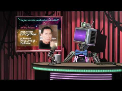Gravity and the Great Attractor - Robot Astronomy Talk Show (George Takei, Mark Hamill, Ed Wasser))