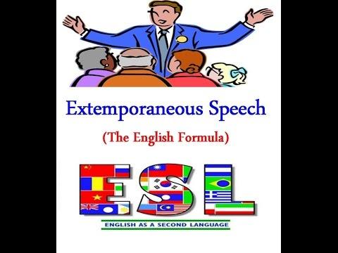 Extemporaneous Speaking Definition