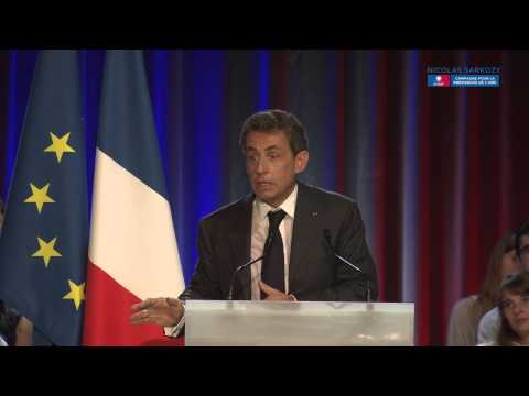 Nicolas Sarkozy en meeting à Nancy