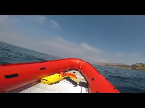 Tohatsu 9.8 hp on Saturn 18' inflatable boat in San Pedro, CA
