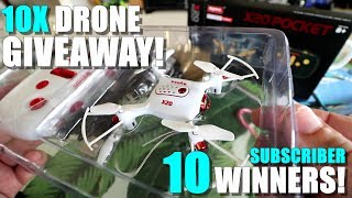 10 DRONE GIVEAWAY!  Tenergy SYMA X20 Pocket Drone! 10 Winners!