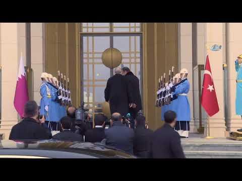 Cumhurbaşkanı Erdoğan, Katar Emiri Al Sani'yi Kabul Etti
