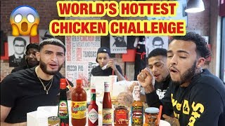 MY HOMIES & I TRIED THE WORLD'S HOTTEST CHICKEN CHALLENGE !!! *NEVER again*