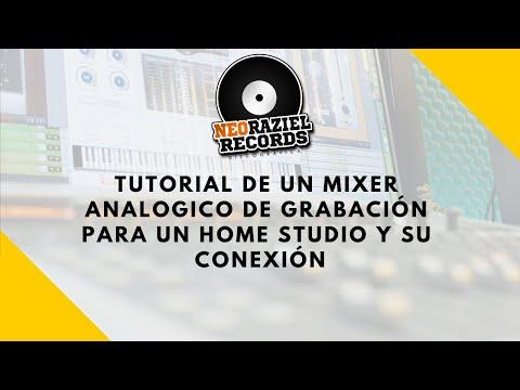 Tutorial de un Mixer analogico de grabacion para un home studio y su coneccion
