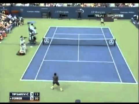 Ferrer outlasts Tipsarevic   Highlights   QuarterFinals   US Open 2012