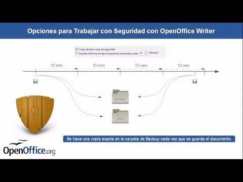 OpenOffice - Writer - Configuración y opciones de copias de seguridad