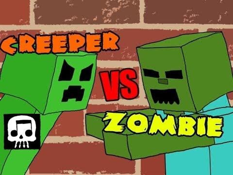 Minecraft rap battle creeper vs zombie jt machinima - Minecraft zombie vs creeper ...
