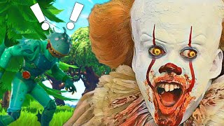PENNYWISE FINDS INSANE KID ON FORTNITE! (Fortnite Voice Trolling)