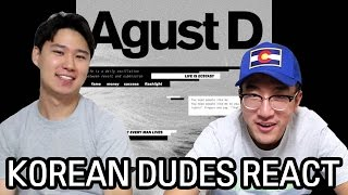 Download Lagu [ENG] AGUST D M/V Korean Dude Reaction! SUGA got some RAP SKILLS! Gratis STAFABAND