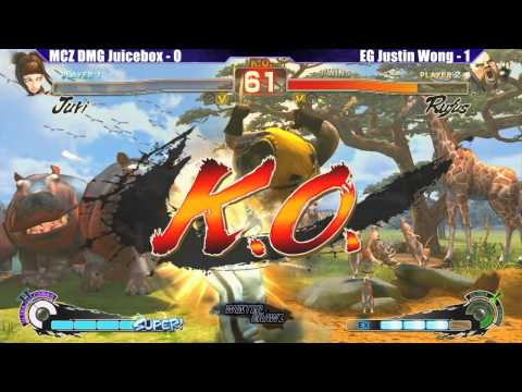 SSF4 AE 2012 Grand Finals MCZ DMG Juicebox vs EG Justin Wong - WB6 Road to Evo 2012