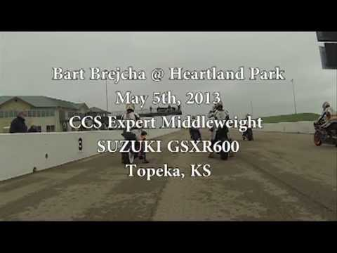 Heartland Park CCS Expert Middleweight Expert Topeka KS May 5th 2013 Bart Brejcha Suzuki GSXR 600
