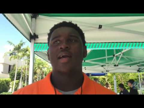 UM Hurricanes Football Media Day: Freshman DL Kendrick Norton