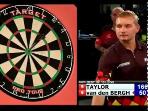 Dmitri van den Bergh 10 Darter on the Bullseye to beat Phil Taylor - 2018 Exhibition
