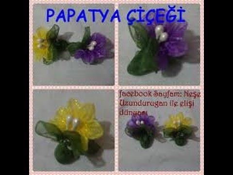 Organze Kurdele oyaları&PAPATYA&Forex flower,health flower,holiday flower, Taksim flower, summer ,