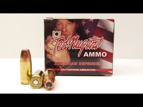 9mm Ted Nugent American Defender 115 Grain UHP Ammo Test