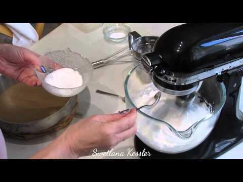 приготовление бисквита.