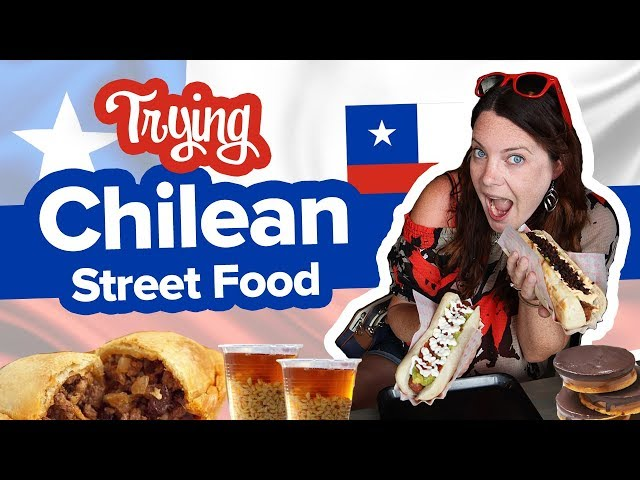 Chilean Food is Crazy Good. Street Food feast! Completo, Empanada de pino, Mote con huesillo  more