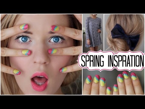 ✿ Spring Inspiration: Hair, Makeup, Outfit & Nail Tutorial ✿
