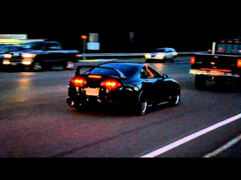 Toyota  on Loud 800hp Toyota Supra Rev Flames Hd