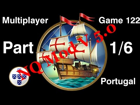 Civilization 5 Multiplayer 122: Portugal [1/6] ( BNW 6 Player Free For All) Gameplay/Commentary
