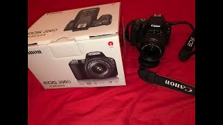 DSLR CANON 200D / EOS REBEL SL2 CAMERA kit (including lens) - Unboxing & First Look!