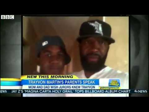 BBC News   Trayvon Martin #039;s parents  #039;disgusted #039; by Zimmerman verdict mp4
