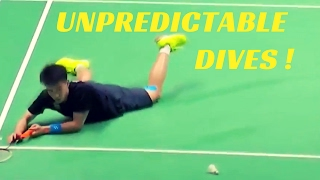 Most UNPREDICTABLE badminton dives !