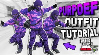 GTA 5 Modded Outfits PURPDEF Tutorial! GTA Online Tryhard Cool Clothing 1.41 (GTA 5 Glitches)