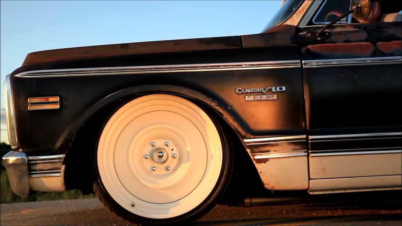 1969 chevrolet c10 air ride bagged slammed patina pickup shop truck