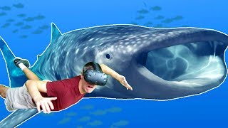 SWIMMING WITH A GIANT WHALE SHARK IN VR UNDERWATER ENCOUNTER! - Operation Apex HTC VIVE Gameplay