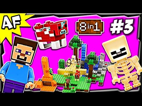 Lego Minecraft 21116 CRAFTING BOX Build #3 Animated Stop Motion Review