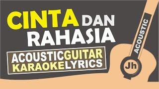 Yura yunita feat Gleen Fredly Cinta dan Rahasia Acoustic Karaoke Version