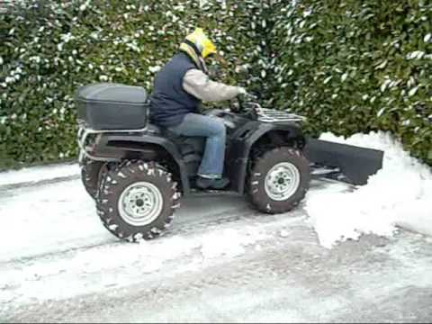 Snow plow quad home made!!