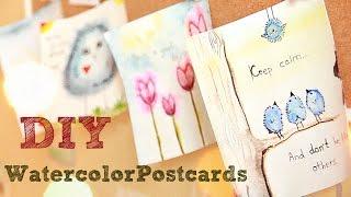 ★DIY★ -Акварельные открытки своими руками-