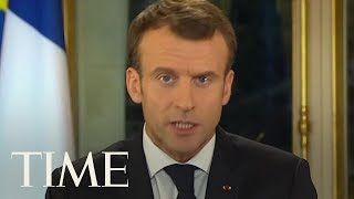 Macron Vows Tax Cuts And Pleads For Calm Amid Yellow Vest Protests In France | TIME