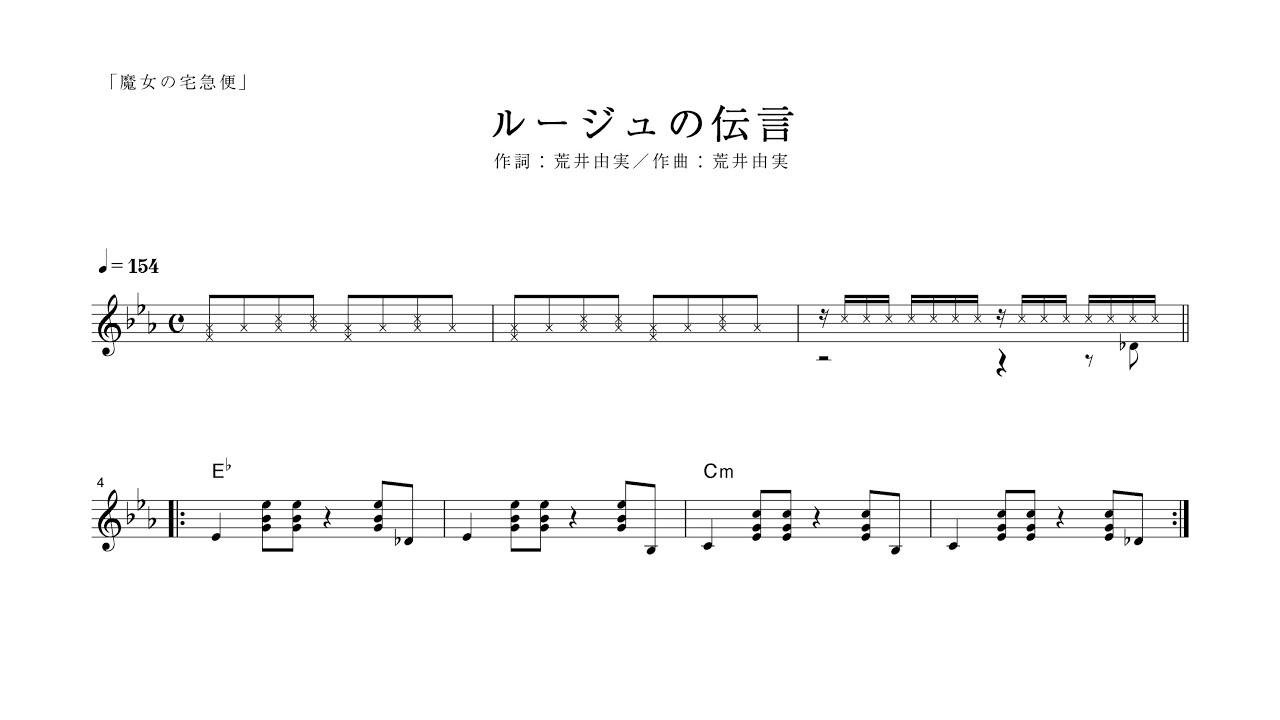 ルージュ の 伝言 コード ルージュの伝言/荒井由実/ギターコード -