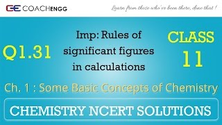 Some Basic Concepts of Chemistry Q1.31 Chapter 1 NCERT solutions CHEMISTRY Class 11