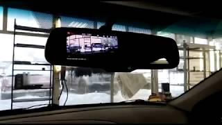 Зеркало видеорегистратор Redpower MD43 в действии на KIA RIO